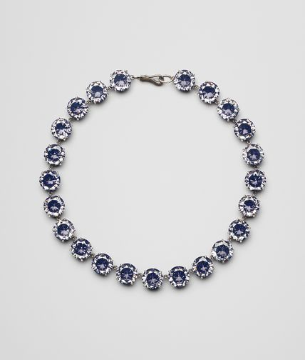 BLUE SILVER AND STONES NECKLACE