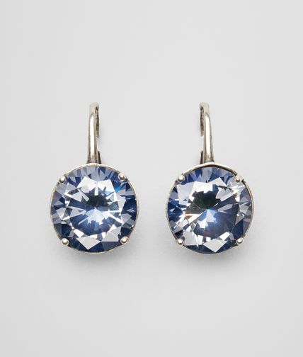 EARRINGS IN SILVER AND BLUE STONES