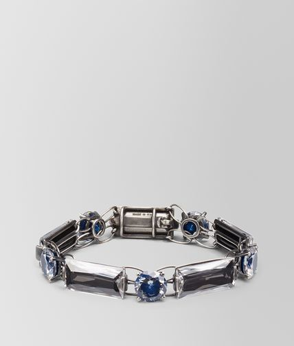 BRACELET IN SILVER AND BLUE GREY STONES