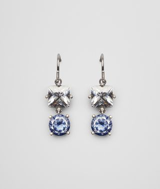 EARRINGS IN SILVER AND BLUE GREY STONES