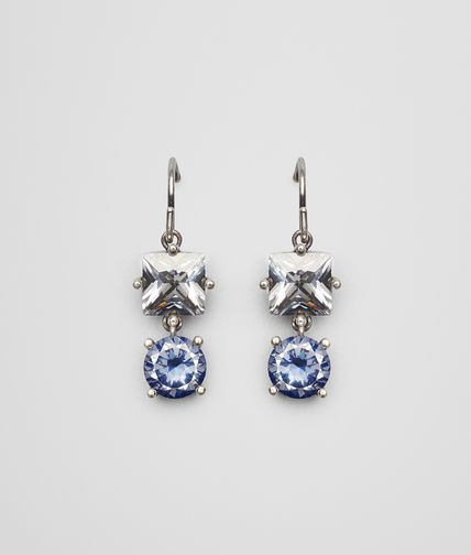 BLUE GREY SILVER AND STONES EARRINGS