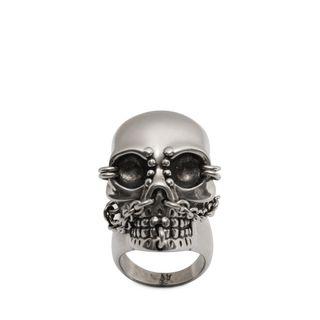 ALEXANDER MCQUEEN, Ring, Chain Skull Ring