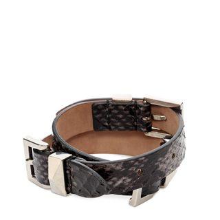 ALEXANDER MCQUEEN, Bracelet, Three Buckles Double Wrap Bracelet