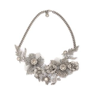 ALEXANDER MCQUEEN, Necklace, Jeweled Floral Necklace