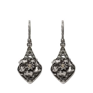 ALEXANDER MCQUEEN, Earring , Jeweled Floral Earrings