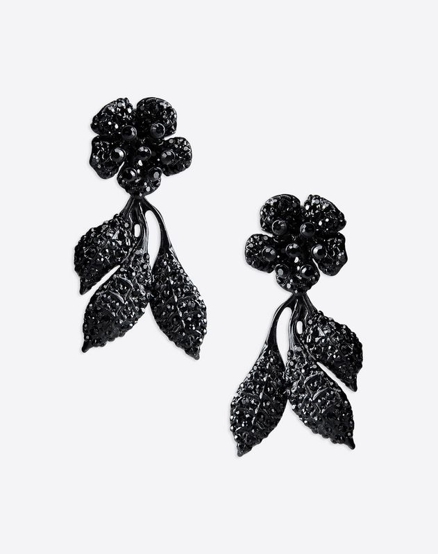Pendant flower earrings