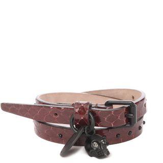 ALEXANDER MCQUEEN, Bracelet, Snakeskin Double Wrap Bracelet