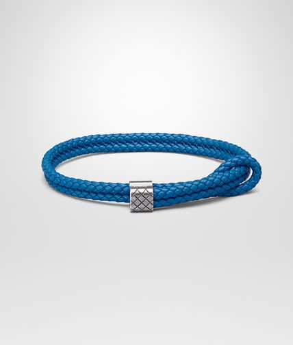 BRACELET IN BLUETTE INTRECCIATO NAPPA AND SILVER