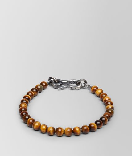 BRACELET IN SILVER TIGER'S EYE STONES