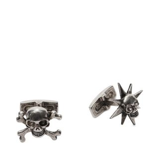 ALEXANDER MCQUEEN, Cufflink, Asymmetric Star and Skull Cufflinks