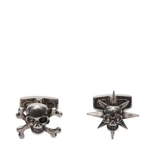 ALEXANDER MCQUEEN, Manschettenknopf, Asymmetrische Manschettenknöpfe mit Skull und Stern