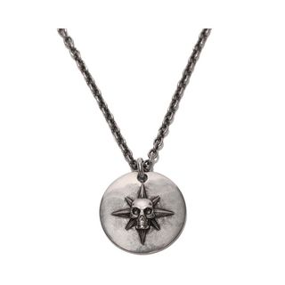 ALEXANDER MCQUEEN, Necklace, Star and Skull Metal Disk Pendant