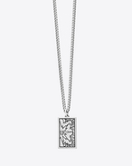 GRUNGE BANG Pendant Necklace in Old Silver-Toned Sterling Silver