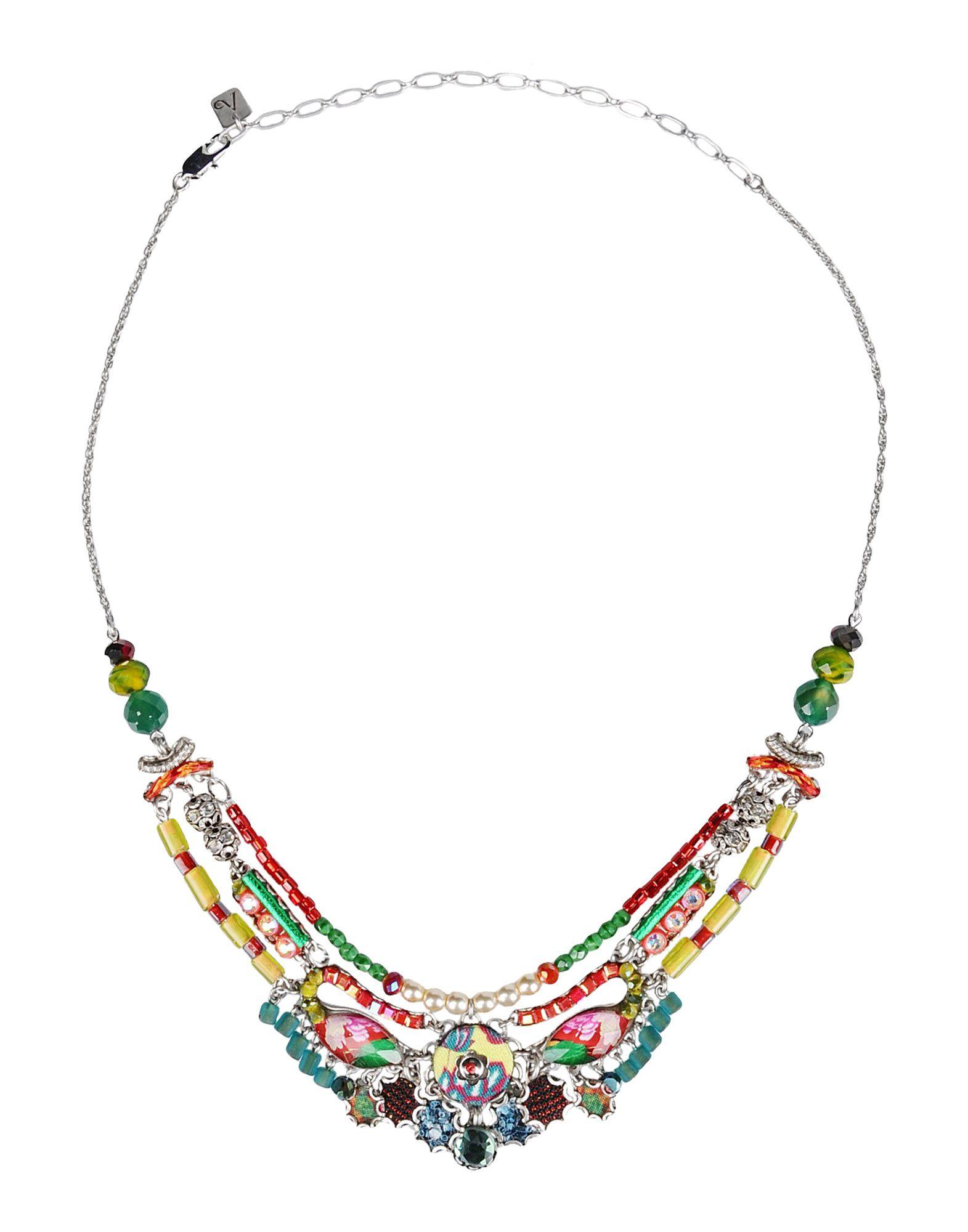 AYALA BAR Damen Halskette Farbe Grün Größe 1