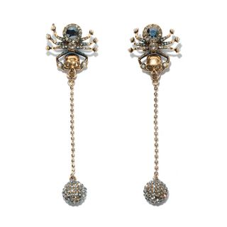 ALEXANDER MCQUEEN, Earring, Spider Skull Earrings