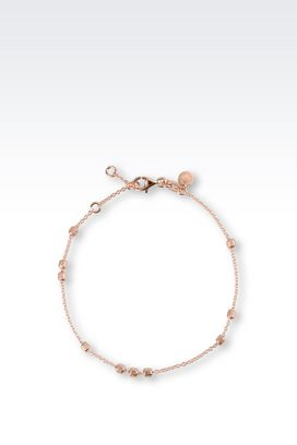 Armani Bracelet Women bracelet in rose gold-plated silver