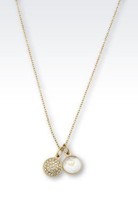 Armani Colliers Femme collier en acier plaqué or