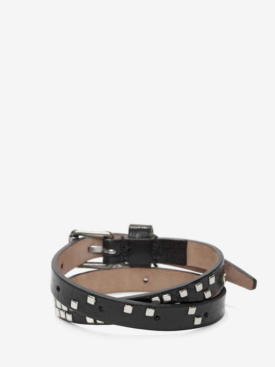 Skull Charm Double Wrap Bracelet