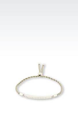 Armani Bracelet Women bracelet in fabric and steel with crystals