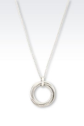 Armani Necklace Women steel necklace with crystals
