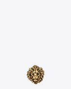 LION Ring in Old Gold-Toned Brass