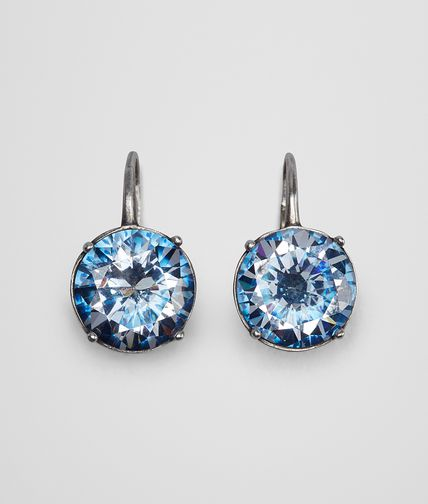 EARRINGS IN SILVER AND NATURAL PEACOCK CUBIC ZIRCONIA