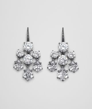 EARRINGS SILVER AND NATURALE CUBIC ZIRCONIA