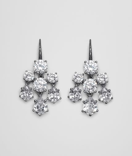 EARRINGS IN SILVER AND NATURAL CUBIC ZIRCONIA