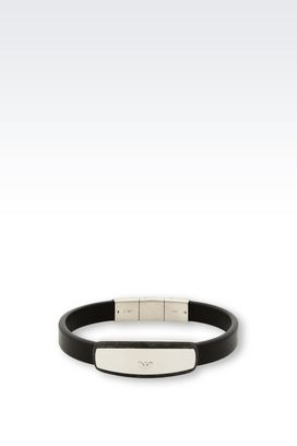Armani Bracelet Men leather bracelet
