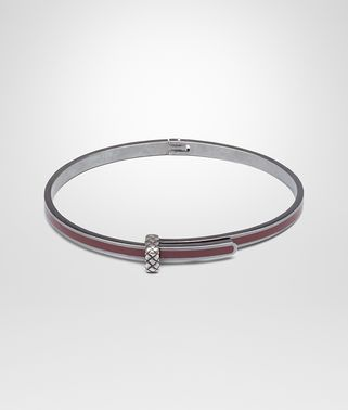 BRACELET IN BAROLO SILVER AND ENAMEL WITH INTRECCIATO DETAIL