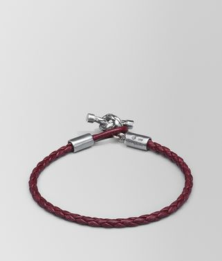 BRACELET IN BAROLO INTRECCIATO NAPPA AND SILVER