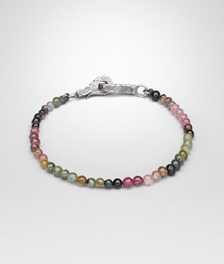 BRACELET IN SILVER AND TOURMALINE STONES, INTRECCIATO DETAIL