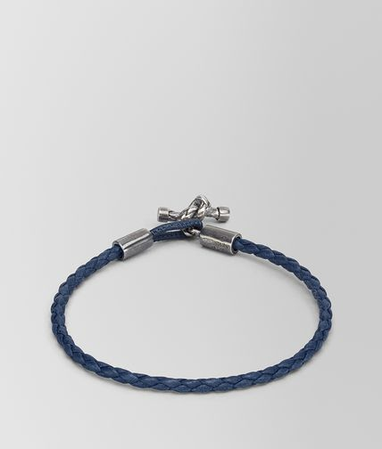 BRACELET IN PACIFIC INTRECCIATO NAPPA AND SILVER