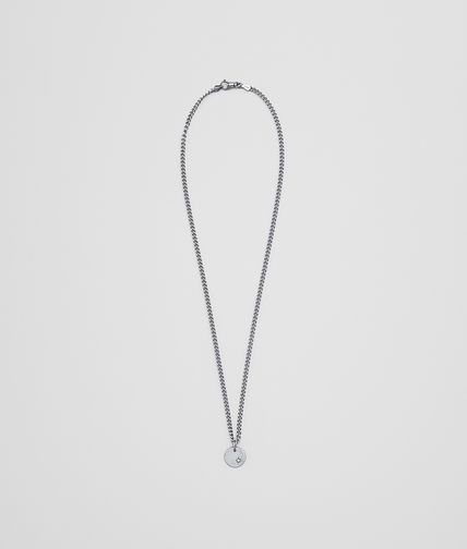 PENDANT IN STERLING SILVER AND NATURAL CUBIC ZIRCONIA WITH INTRECCIATO DETAILS