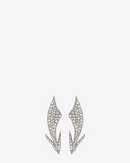 COCKTAIL Arrow Earrings in Silver-Toned Brass and Clear Crystal