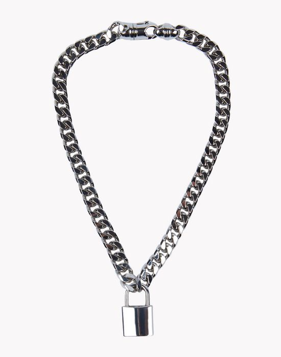 lock chain necklace jewels Man Dsquared2