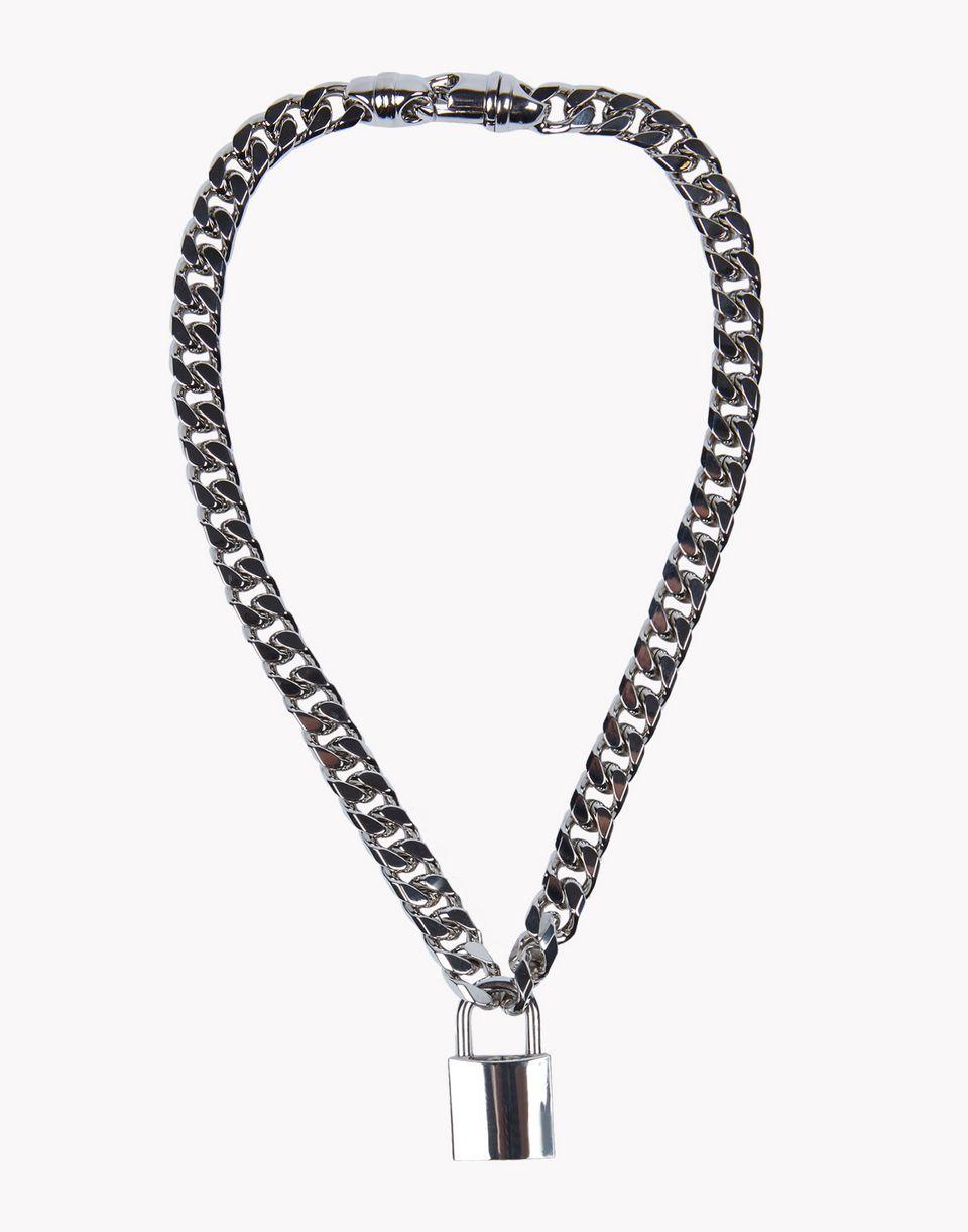 dsquared2 lock chain necklace necklaces men dsquared2 online store. Black Bedroom Furniture Sets. Home Design Ideas