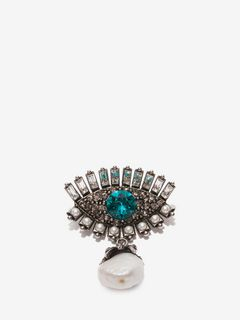 Jeweled Eye Brooch