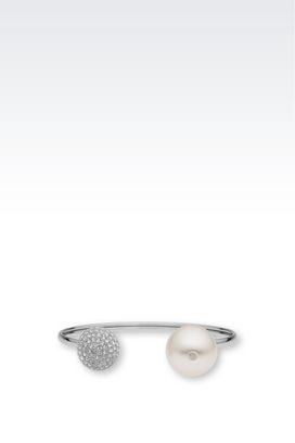 Armani Armbänder Für sie stahlarmband mit perle und swarovski