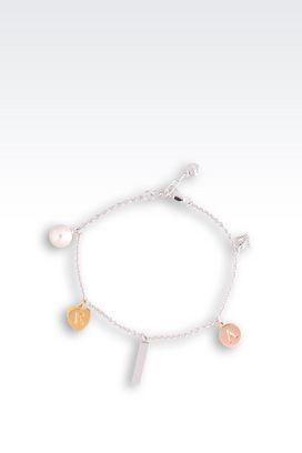 Armani Bracelets Femme bracelet  en argent massif avec perle