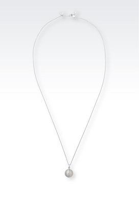 Armani Necklace Women sterling silver necklace with zirconia