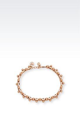 Armani Bracelet Women rose gold-plated steel bracelet