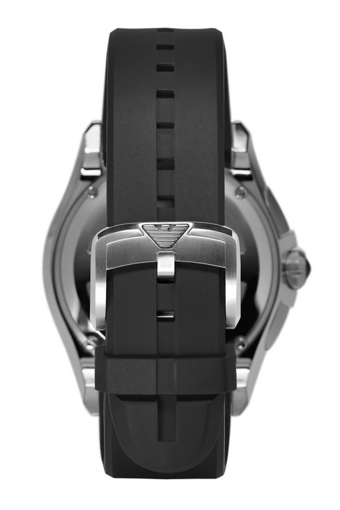 CHRONOGRAPH SWISS MADE WATCH WITH LEATHER STRAP: SWISS MADE WATCHES Men by Armani - 2