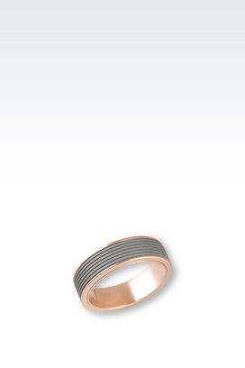 Armani Rings Men steel ring