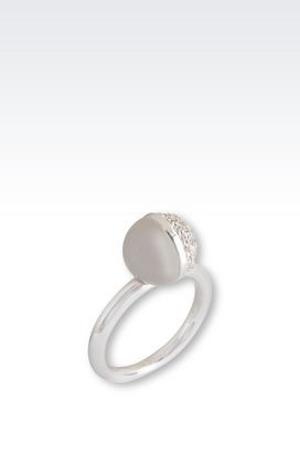 Armani Rings Women sterling silver ring with zirconia