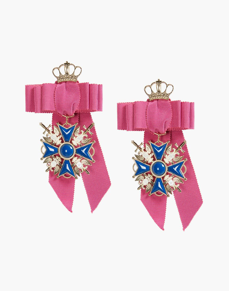 ribbon cross embellished earrings jewels Woman Dsquared2