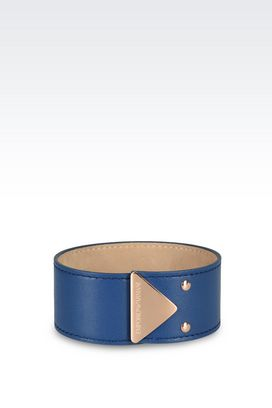 Armani Bracelet Women leather and rose gold-plated steel bracelet