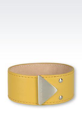 Armani Bracelet Women leather and steel bracelet