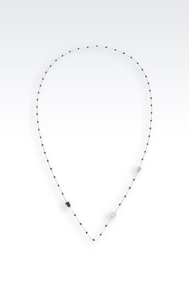 Armani Necklace Women steel necklace with stones