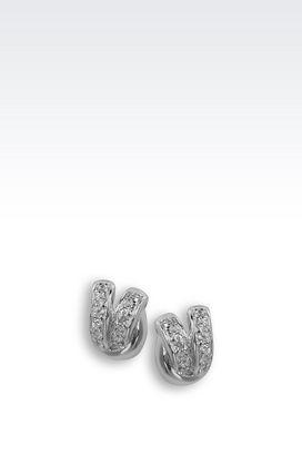 Armani Earrings Women sterling silver earrings with zirconia